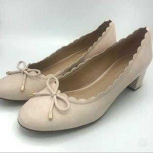 Kelly & Katie | Cadena Pale Nude Scalloped Heels